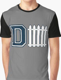 D-FENCE Blue Graphic T-Shirt