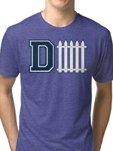 D-FENCE Blue Tri-blend T-Shirt
