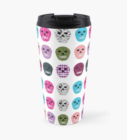 Sugar Pattern Skulls Travel Mug