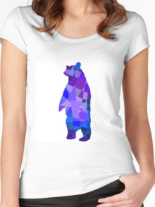 Cool grizzly bear design Women's Fitted Scoop T-Shirt