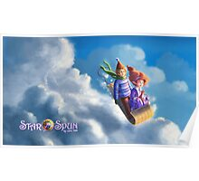 Cloud Sledding on StarSpun Poster