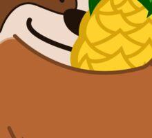 Pineapple Sloth Sticker