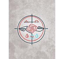 Religious contemporary minimal symbol Photographic Print