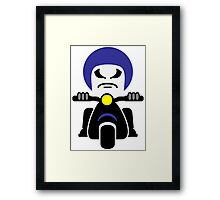 Bad Dude on a Scooter Framed Print