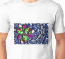 Barb Wire Pinwheel with Puppy Eye Unisex T-Shirt