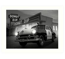 Cops Shoot Unarmed Donut Art Print