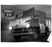 Cops Shoot Unarmed Donut Poster