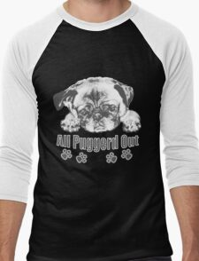 Puggerd out pug  Men's Baseball ¾ T-Shirt