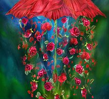 Raining Roses by Carol  Cavalaris