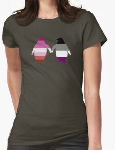 Lesbian Ace Pride Penguins Womens Fitted T-Shirt