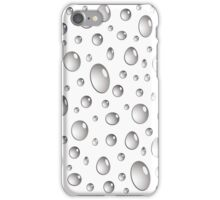 realistic water droplets design iPhone Case/Skin