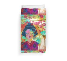 Retro Geisha Duvet Cover