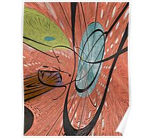 The Catalyst: Bark Cloth Abstract by Alma Lee Poster