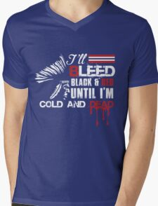 I'll Bleed Black And Red Until I'm Cold And Dead Mens V-Neck T-Shirt