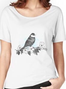 Bird on cherry blossoms Women's Relaxed Fit T-Shirt