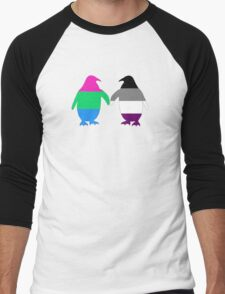 Poly Ace Pride Penguins Men's Baseball ¾ T-Shirt