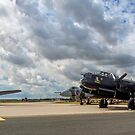 Two Lancasters and a Vulcan meet at RAF Waddington by Colin Smedley