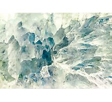 Icy Crystal Agate Bacground Photographic Print