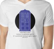 How Much Who Mens V-Neck T-Shirt