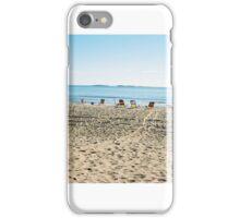 Empty Beach Chairs iPhone Case/Skin
