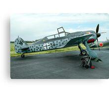 Focke-Wulf Fw 190F-8/U-1 583219 black 38 Canvas Print