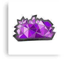 geometric amethyst shape design  Canvas Print