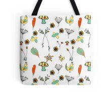 Hens and Chicks Vintage Pattern Tote Bag