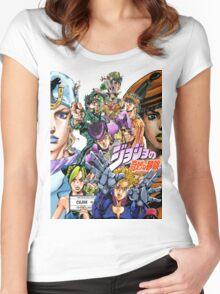 Joestar Family Tree Women's Fitted Scoop T-Shirt
