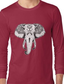 Elephant Tattooed Long Sleeve T-Shirt