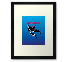 BORN TO BE FREE - HEART Framed Print