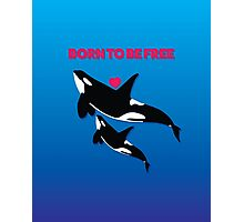BORN TO BE FREE - HEART Photographic Print