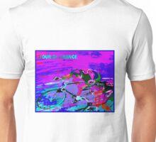 TOUR DE FRANCE; Abstract Bike Racing Print Unisex T-Shirt
