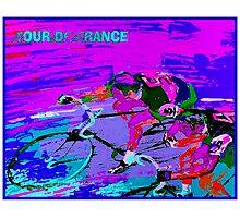 TOUR DE FRANCE; Abstract Bike Racing Print Photographic Print