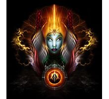 Riddian Queen Dynasty Of Power On Black Photographic Print
