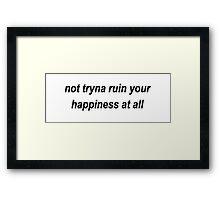 Shawn Mendes Ruin Framed Print