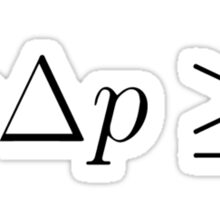 Uncertainty Principle Sticker