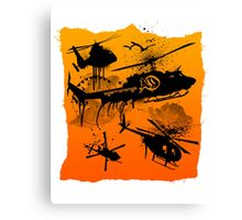 Black Helicopters Canvas Print