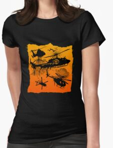 Black Helicopters Womens Fitted T-Shirt