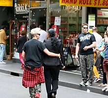 Saturday morning shoppers in Melbourne by Maggie Hegarty