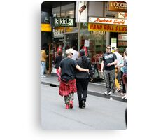 Saturday morning shoppers in Melbourne Canvas Print