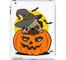 Funny Halloween cartoon pug iPad Case/Skin