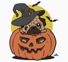 Funny Halloween cartoon pug by DogiStyle
