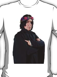 snape with flower crown T-Shirt