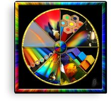Rainbow Colour Wheel Canvas Print