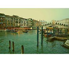 Rialto Bridge and Grand Canal, Venice Photographic Print