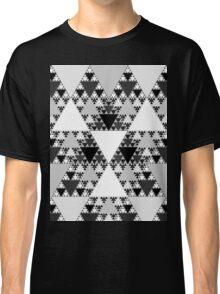 Monochrome, Sierpinski Triangle 004 Classic T-Shirt