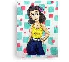 50's Girl Canvas Print
