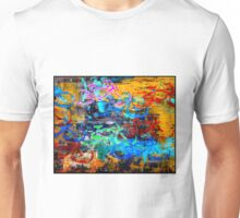 BICYCLES ABSTRACT; Whimsical Print Unisex T-Shirt
