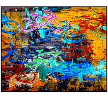 BICYCLES ABSTRACT; Whimsical Print Photographic Print