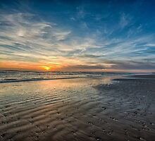 South Padre sunrise over the beach by Beecreekphoto